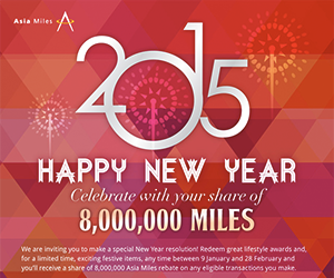 Asia Miles email newsletter January 2015