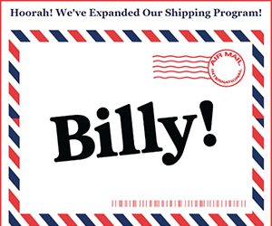 Billy email newsletter September 2017