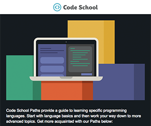 Code School email newsletter January 2015