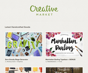 Creative Market email newsletter January 2015