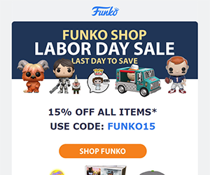 Funko email newsletter September 2017