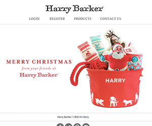 Harry Barker email newsletter December 2014