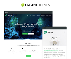Organic Themes email newsletter September 2017