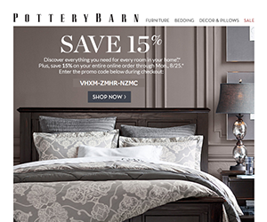 Pottery Barn email newsletter August 2014