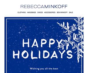 Rebecca Minkoff email newsletter December 2014