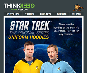 ThinkGeek email newsletter September 2014