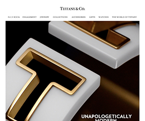 Tiffany email newsletter January 2015