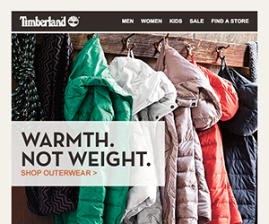 Timberland email newsletter September 2014